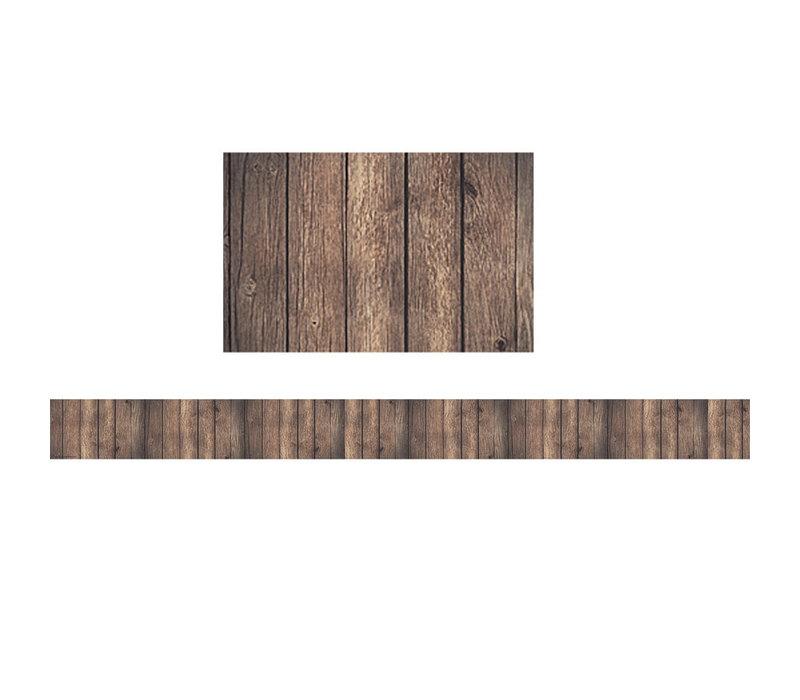 Dark Wood Straight Border Trim *