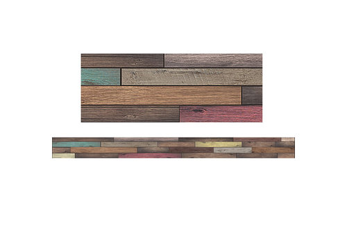 Teacher Created Resources Home Sweet Classroom - Reclaimed Wood Straight Border Trim