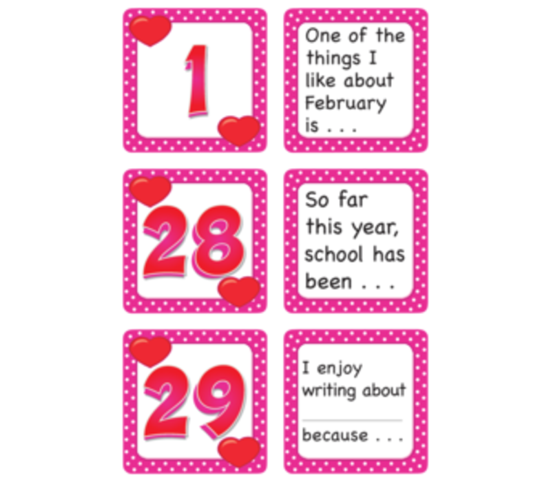 Calendar Days with Story Starters- February