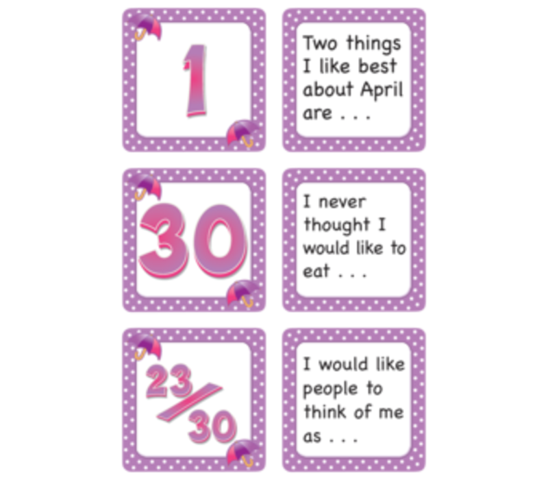 Calendar Days with Story Starters- April