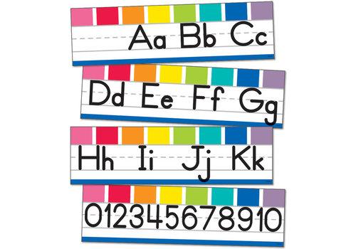 Carson Dellosa Hello Sunshine Alphabet Line: Manuscript Mini Bulletin Board Set