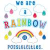 Carson Dellosa We Are a Rainbow of Possibilities Bulletin Board Set *