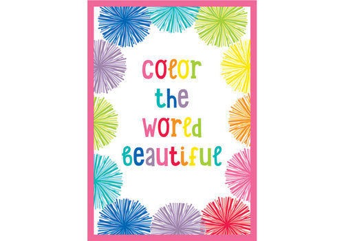 Carson Dellosa Hello Sunshine - Color the World Beautiful Poster