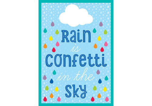 Carson Dellosa Rain Is Confetti in the Sky Poster