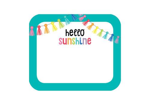 Carson Dellosa Hello Sunshine Name Tags *