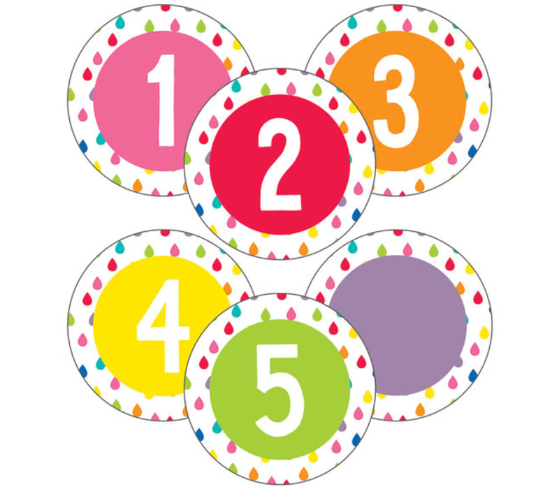 Hello Sunshine Student Numbers Mini Cut-Outs *