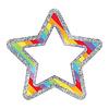 Carson Dellosa Rainbow Glitter Stars Cut-Outs *