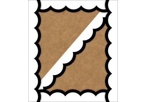 Carson Dellosa Simply Stylish Black & White Wavy Line Scalloped Borders*