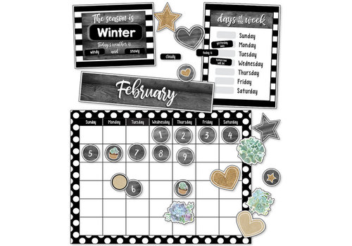 Carson Dellosa Simply Stylish Calendar Bulletin Board Set