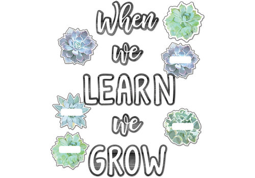 Carson Dellosa Simply Stylish When We Learn We Grow Bulletin Board Set