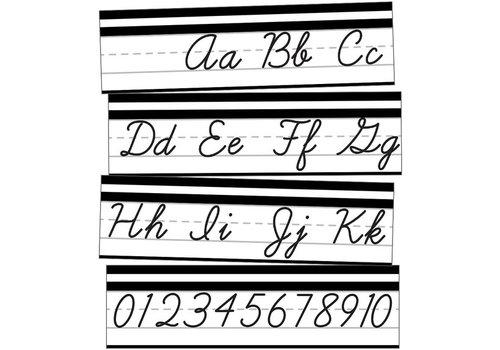 Carson Dellosa Simply Stylish Alphabet Line: Cursive Mini Bulletin Board Set Grade PK-2