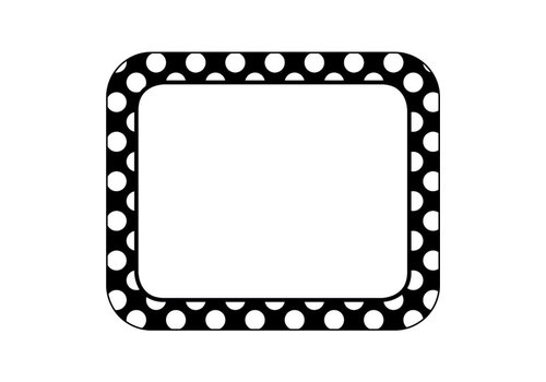 Carson Dellosa Simply Stylish BW Dot Name Tags*