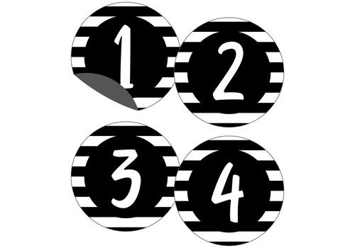 Carson Dellosa Simply Stylish Numbers Magnetic Cut-Outs