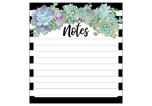 Carson Dellosa Simply Stylish Succulents Notepad