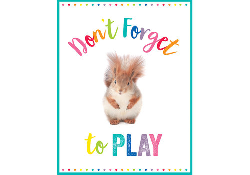 Carson Dellosa Woodland Whimsy - Don't Forget to Play Chart
