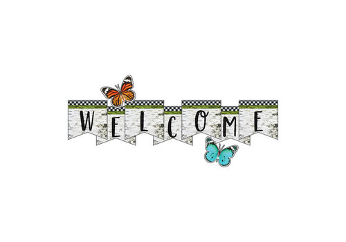 Carson Dellosa Woodland Whimsy Welcome Bulletin Board Set