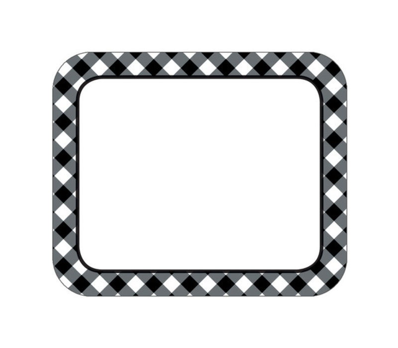 Black & White Gingham Name Tags *