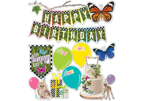 Carson Dellosa Woodland Whimsy Birthday Mini Bulletin Board Set