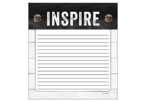 Carson Dellosa Industrial Chic Inspire Notepad