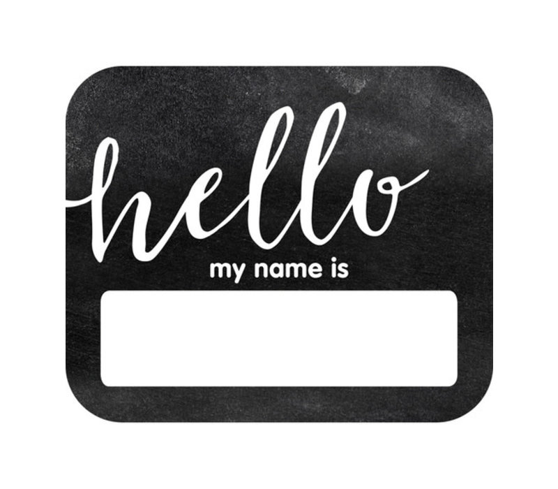 Industrial Chic HELLO Name Tags *