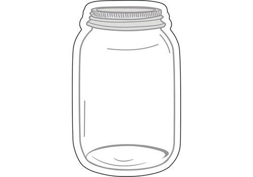 Carson Dellosa Mason Jars Cut-Outs Industrial Chic