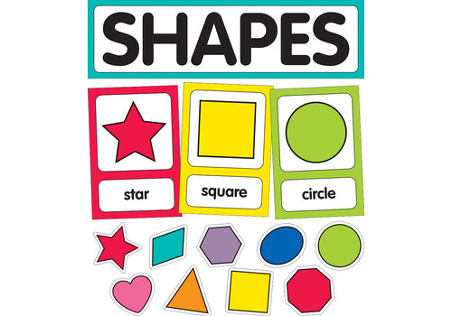 Carson Dellosa Just Teach Shape Cards Mini Bulletin Board Set