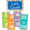 Carson Dellosa Just Teach Number Cards Bulletin Board Set