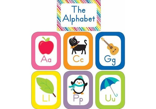 Carson Dellosa Just Teach Alphabet Cards Bulletin Board Set