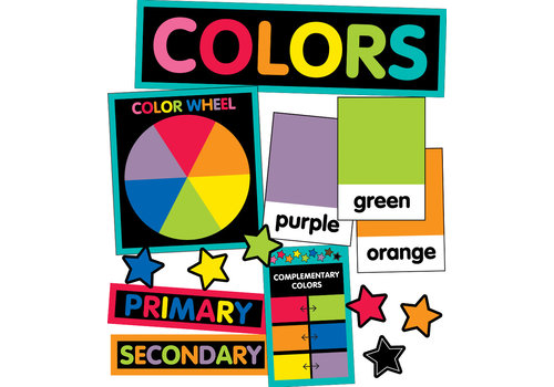 Carson Dellosa Just Teach - Color Cards Mini Bulletin Board Set