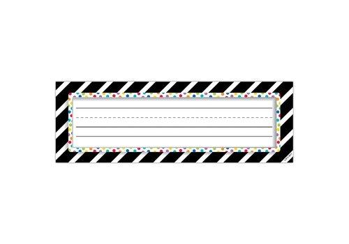 Creative Teaching Press Bold Stripes & Dots Nameplates *