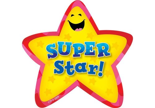 Creative Teaching Press Super Star Star Badges *