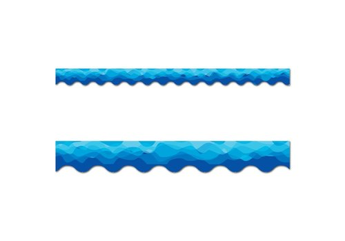 Creative Teaching Press Waves of Blue Border