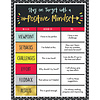 Carson Dellosa Aim High Positive Mindset Chart *