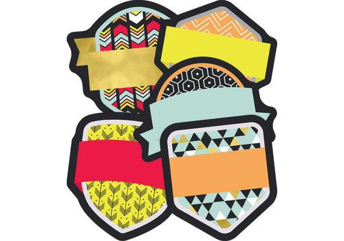 Carson Dellosa Aim High Badges Mini Cut-Outs