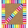 Carson Dellosa Stars Vertical Rainbow Stripes Straight Edge Border *