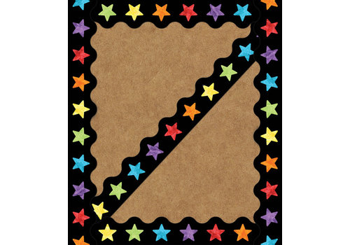 Carson Dellosa Watercolor Stars Scalloped Borders