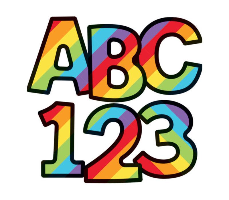 Rainbow Stripe Combo Pack EZ Letters