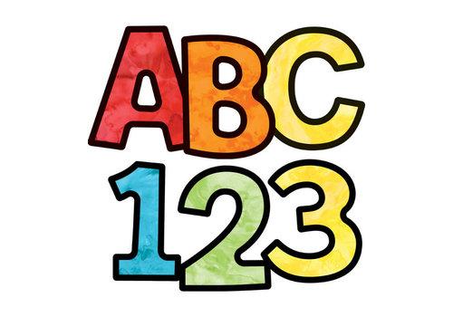 """Carson Dellosa Watercolor EZ Letters 4"""" - Combo Pack"""