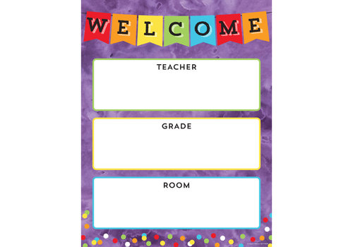 Carson Dellosa Celebrate Learning Welcome Chart*
