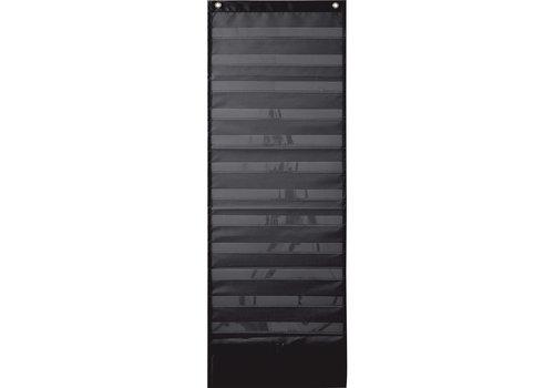 Carson Dellosa Deluxe Scheduling Pocket Chart - Black
