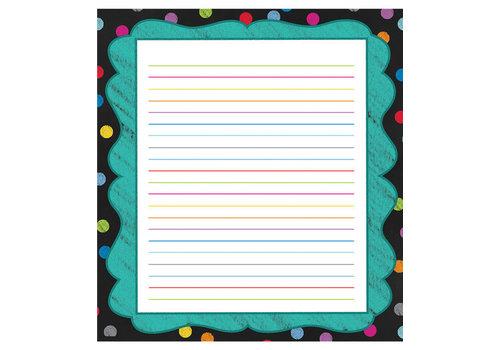 Carson Dellosa Colorful Chalkboard Notepad * (D)