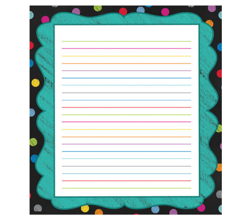 Colorful Chalkboard Notepad * (D)