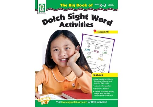Carson Dellosa The Big Book of Dolch Sight Word Activities K-3