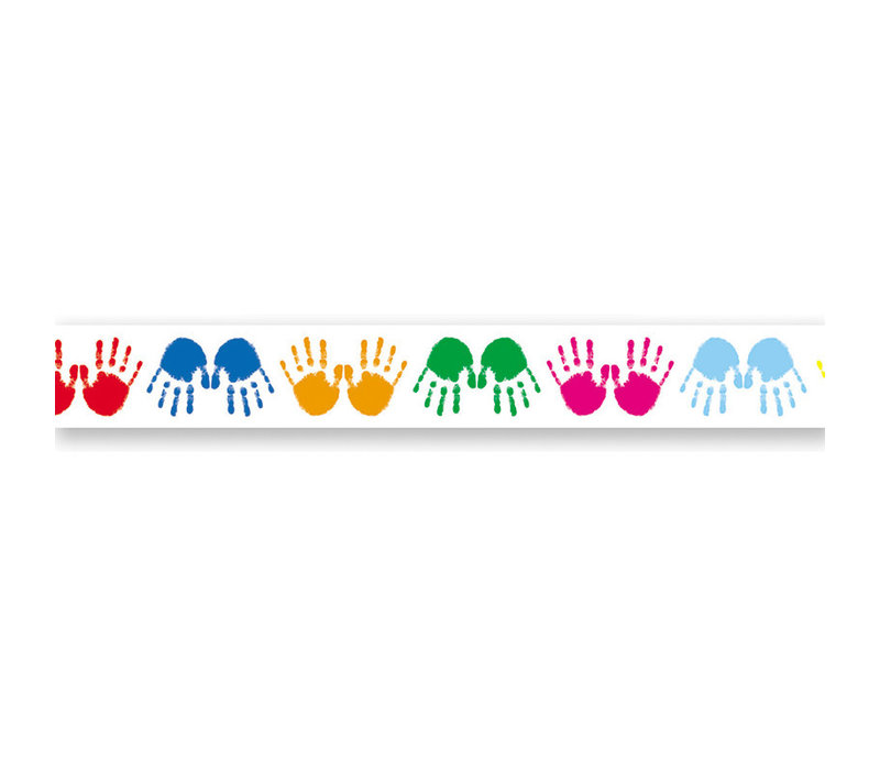 Colorful Handprints Border Trim