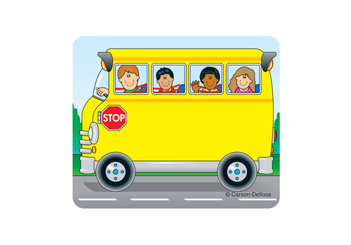 Carson Dellosa School Bus Name Tags