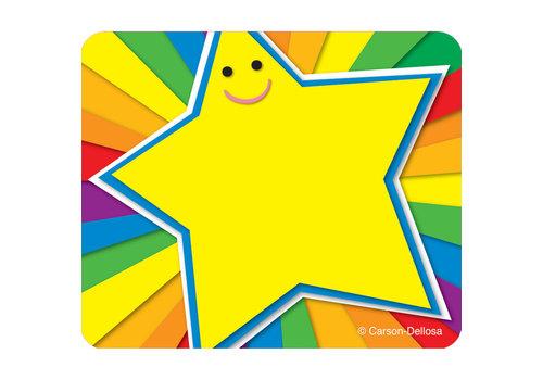 Carson Dellosa Rainbow Star Name Tags