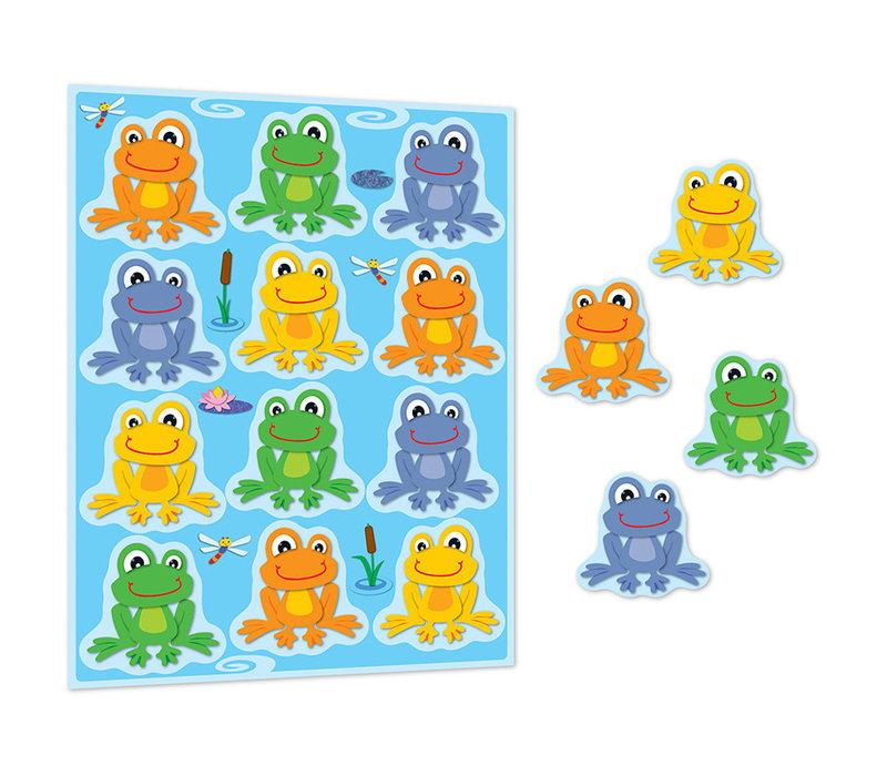 FUNky Frogs Shape Stickers