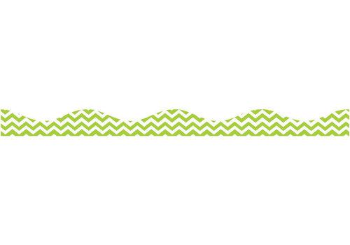 ASHLEY PRODUCTIONS Magnetic Border, Lime Green Chevron *