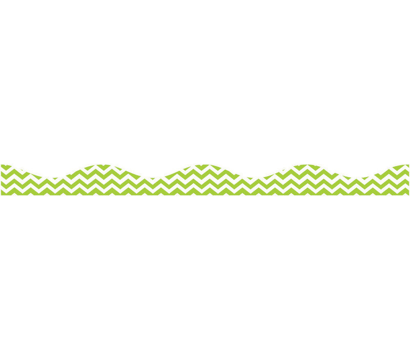 Magnetic Border, Lime Green Chevron