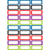 ASHLEY PRODUCTIONS Magnetic Small Nameplates, 30 pcs, Solid Assorted Colors *